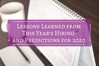 Lessons Learned from This Years Hiring